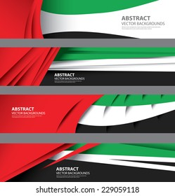 UAE Abstract Background Flag, Emirates template Art (vector Art)