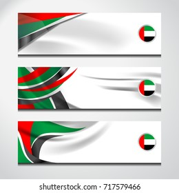 UAE Abstract Background Flag, Emirates banner for Independence Day and other events, vector illustration