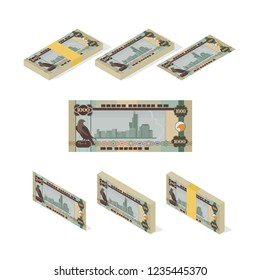 UAE Dirham Banknote Vector Illustration