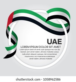 UAE flag background