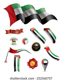 UAE Flag, Made in Emirates Seal Collection, Ribbon (Vector Art)