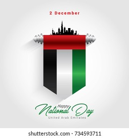 UAE Independence day. Vector Illustration United Arab Emirates national day