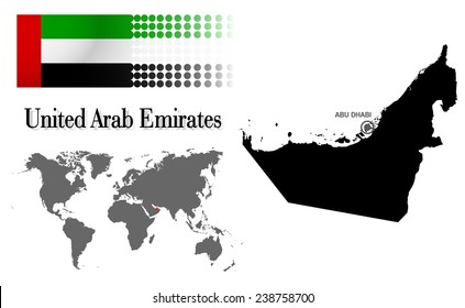 Abu Dhabi Map Images Stock Photos Vectors Shutterstock