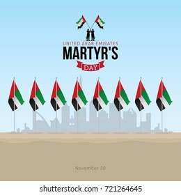 UAE Martyr's Day. Vector Illustration Commemoration day of the United Arab Emirates
