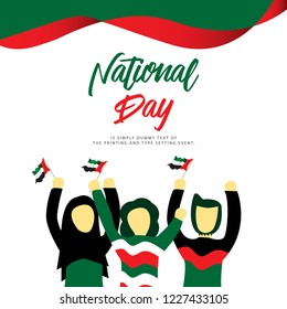 UAE National Day Vector Template Design Illustration