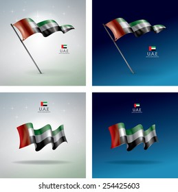 UAE Vector Flag, United Arab Emirates Flag Collection (Vector Art)
