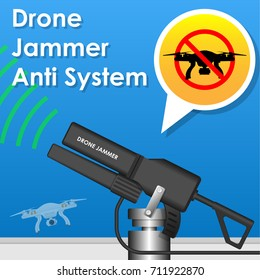 UAV Drone Jamming System Anti Drone Restricted Area Technology No Fly Drone Zone Area Drone Gun