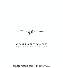UC Initial luxury handwriting logo vector