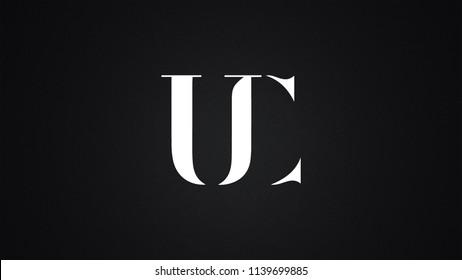 UC Letter Logo Design Template Vector