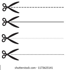 ucher coupon dashed lines. set scissors with dashed line. set fo coupon borders sign. scissors symbol. dotted cutting line black scissors.