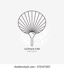 Uchiva Fan vector illustration.  All objects are conveniently grouped and easily editable