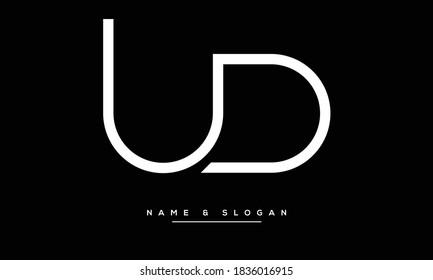 UD ,DU ,U ,D  Abstract Letters Logo Monogram