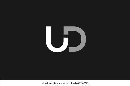 UD DU U D Letter Logo Design Template Vector