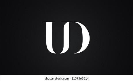 UD Letter Logo Design Template Vector