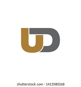 UD simple logo design vector