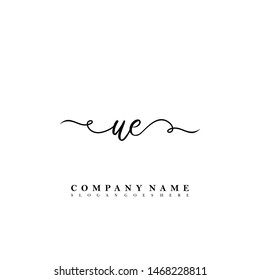 UE Initial beauty floral logo template