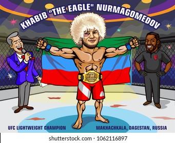 UFC 223. April 7, 2018. Brooklyn, New York. Khabib Nurmagomedov. UFC Lightweight Champion