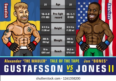 UFC 232. Jones vs. Gustafsson 2. World light heavyweight championship. Mixed martial arts event that will be held on December 29, 2018 at T-Mobile Arena in Paradise, Nevada.