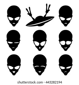 UFO and alien.