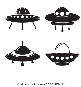 UFO graphic set in different styles