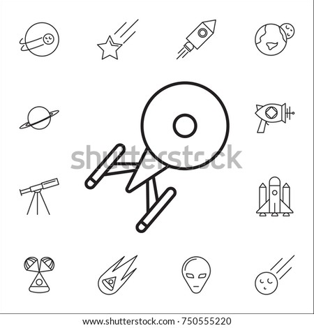 Ufo Icon Set Space Icons Signs Stock Vector Royalty Free 750555220