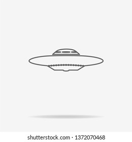 Ufo icon. Vector concept illustration for design.