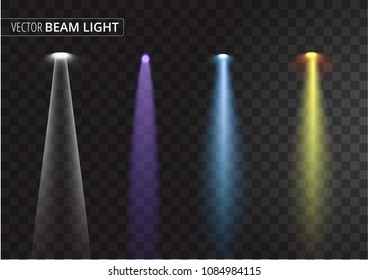 UFO light beam isolated on transparent background. Vector illustration