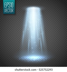 UFO light beam isolated on transparnt background. Vector illustration