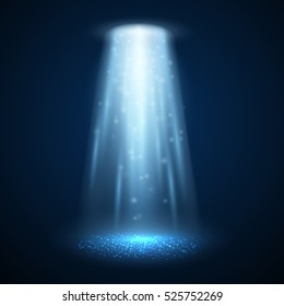 UFO light beam isolated. Vector illustration