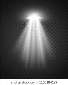 UFO Light Ray. Vector illustration