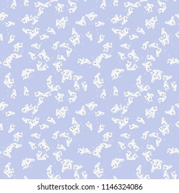 UFO military camouflage seamless pattern in light violet, milk white and different shades of grey color. Seamless repeat camo pattern, usable as winter camoflauge urban print, bright background etc
