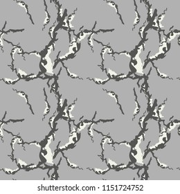 UFO military camouflage seamless pattern in beige and different shades of grey color. Seamless repeat camo pattern, usable as winter camoflauge urban print, abstract background