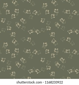 UFO military camouflage seamless pattern in in different shades of green and beige colors. Seamless repeat camo pattern, summer forest or urban camoflauge, background, paintball or strikeball print