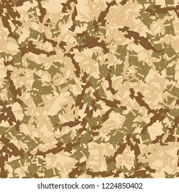 UFO military camouflage seamless pattern in different shades of beige, brown and green colors. Seamless repeat camo pattern, field or desert camoflauge, background, paintball or strikeball print