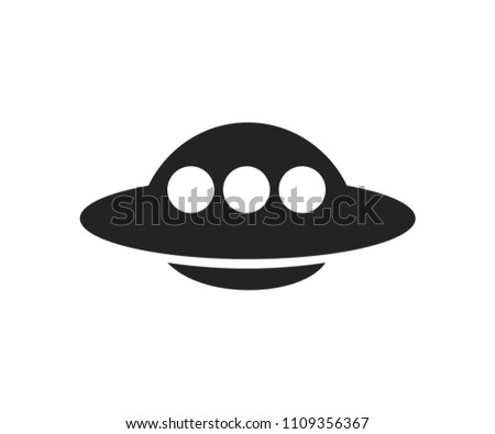 ufo silhouette free transport black vector stock vector royalty