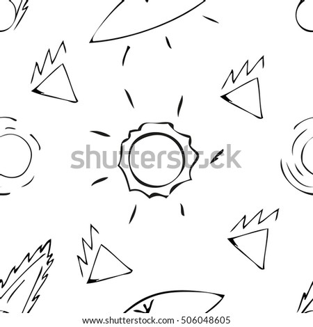 Ufo Vector Background Space Seamless Pattern Stock Vector Royalty