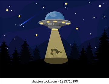 UFOs kidnap creatures on Earth to study and prepare to take over the world.