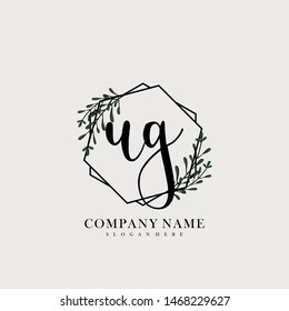 UG Initial beauty floral logo template
