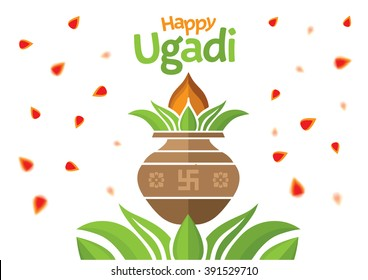 Ugadi and Gudi Padwa The New Year's Day illustration