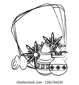 Ugadi indian emblem sketch