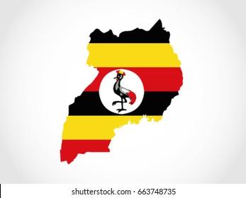 Uganda Map Flag Territory
