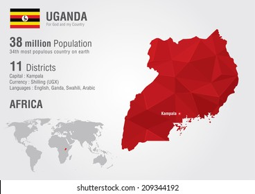 Uganda map images stock photos vectors shutterstock uganda world map with a pixel diamond texture world geography gumiabroncs Image collections