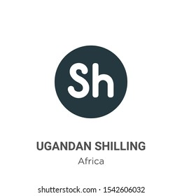 Ugandan shilling vector icon on white background. Flat vector ugandan shilling icon symbol sign from modern africa collection for mobile concept and web apps design.