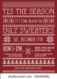 Ugly Christmas Sweater Party invitation template