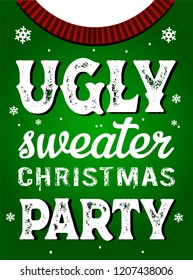 Ugly sweater vector