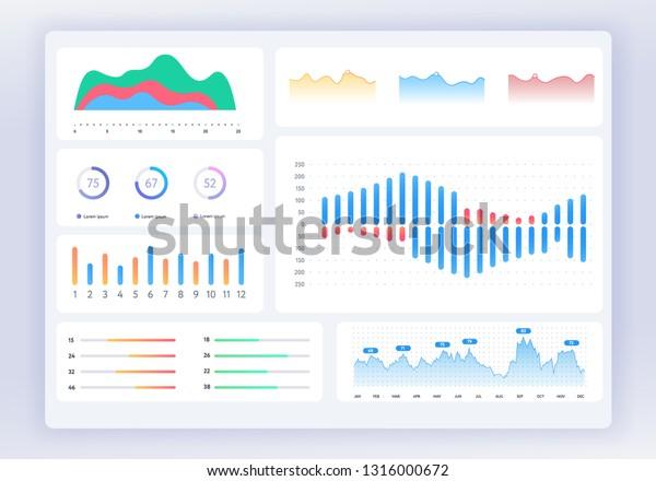 Ui Dashboard Ux App Kit Finance Stock Vector (Royalty Free