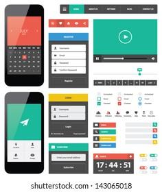 UI flat design web elements