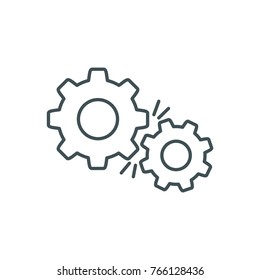 UI line icon gear engine settings