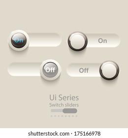 Ui sliders, controls switch web elements.