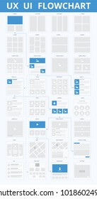 UI UX Flowchart Scheme. Vector illustration